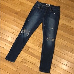 Distressed Paige skinny jeans pants bottoms